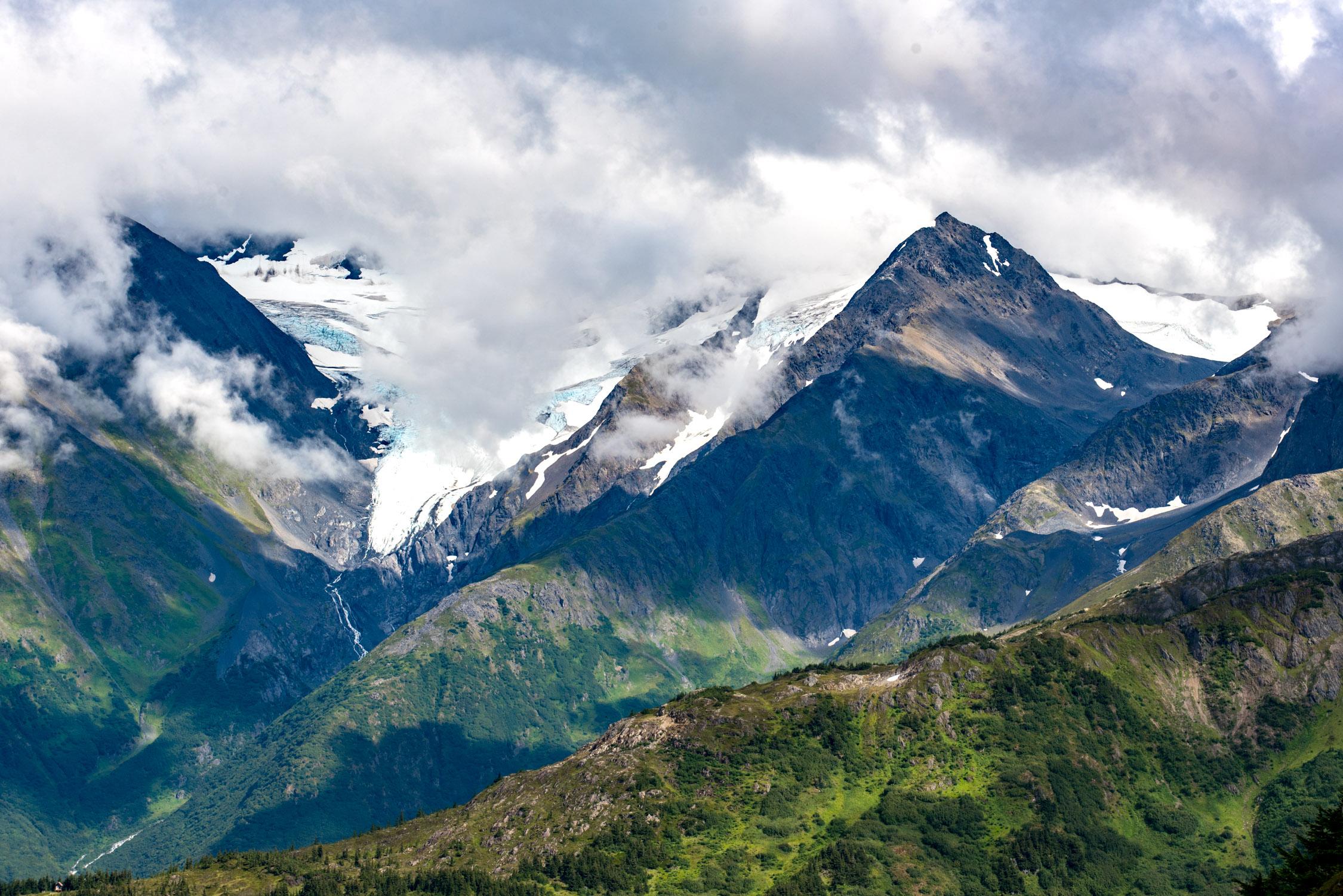 Views form the Aerial Tram at  Alyeska Resort in Alaska
