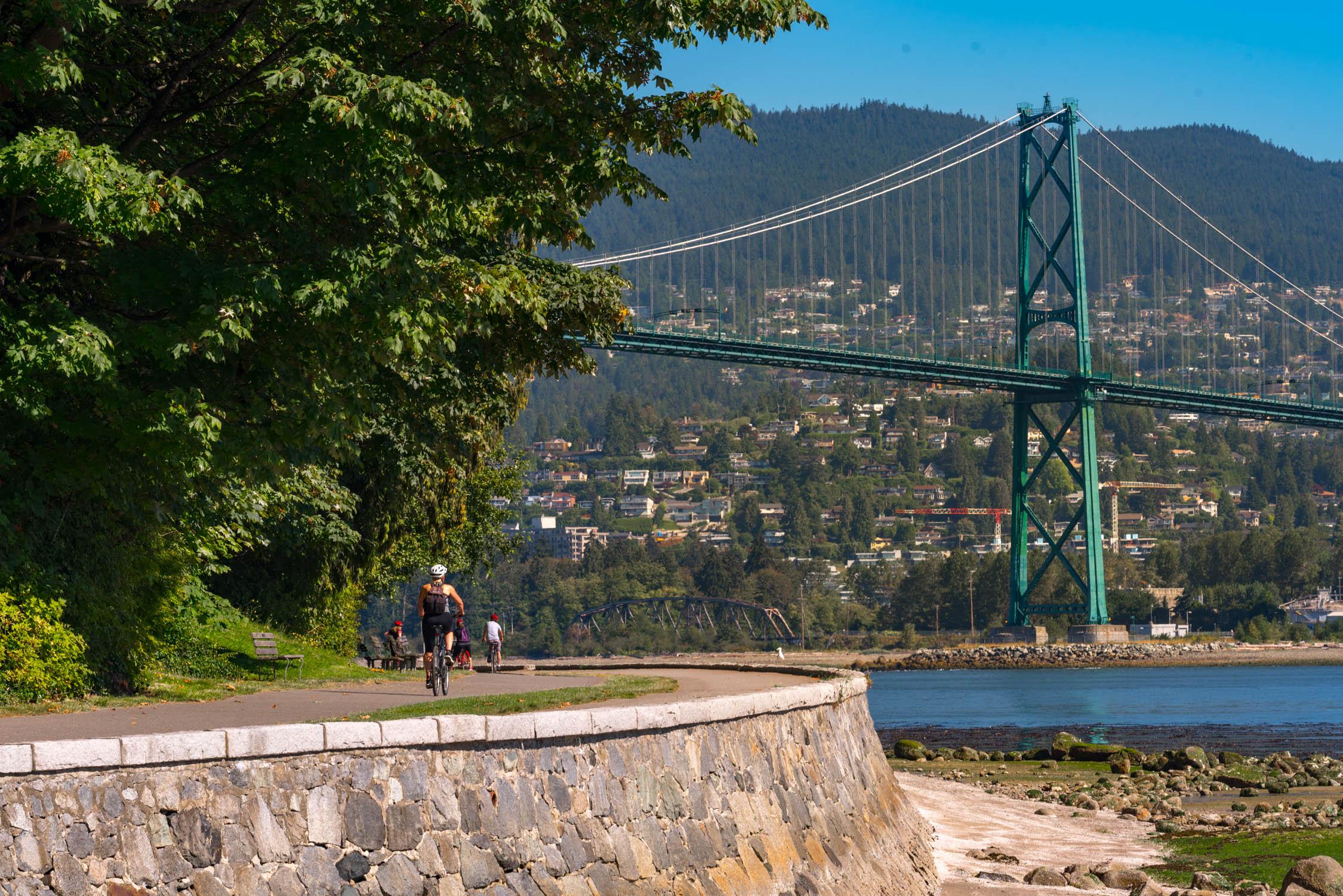 Biking around Stanley Park