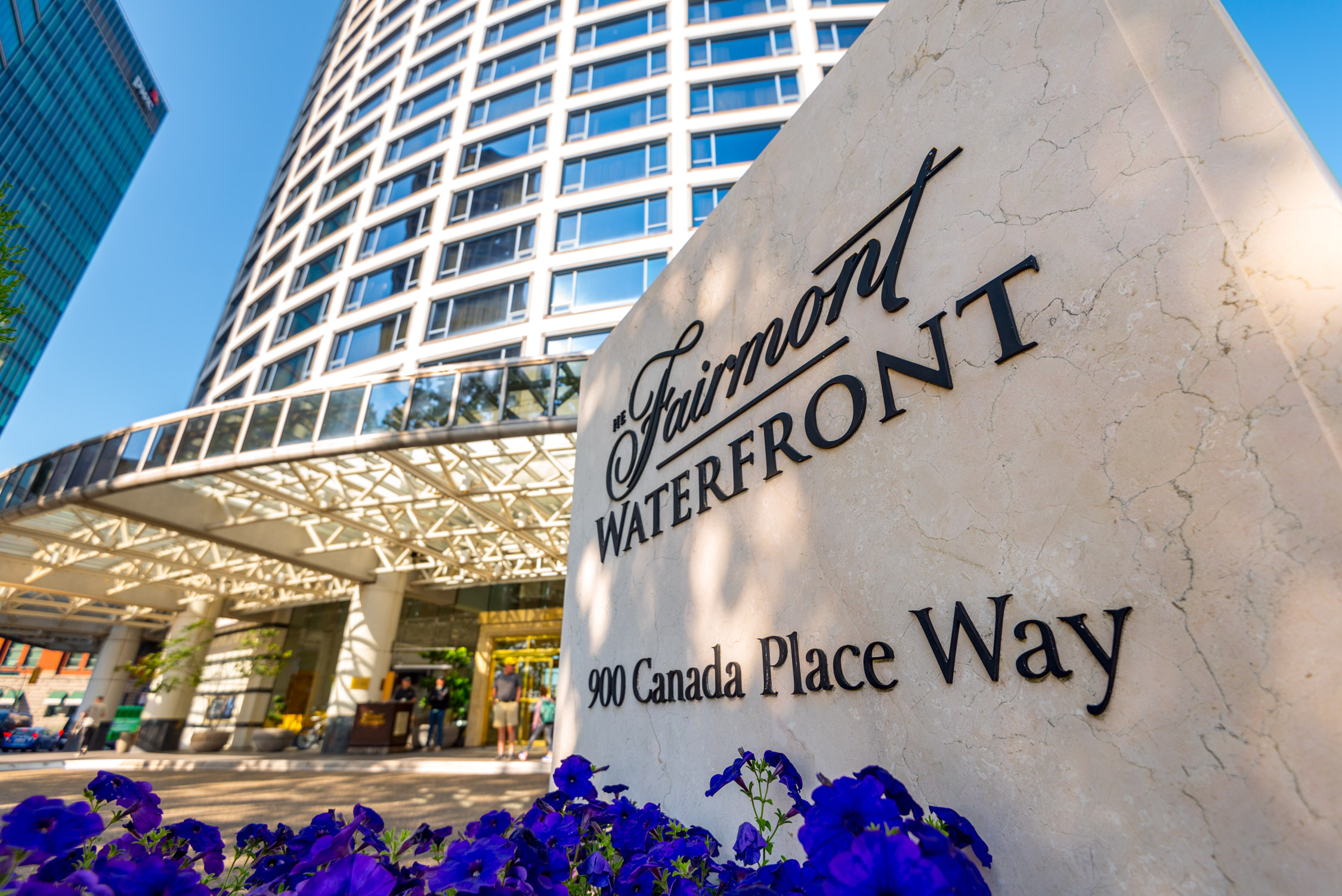 The front of the Fairmont Waterfront