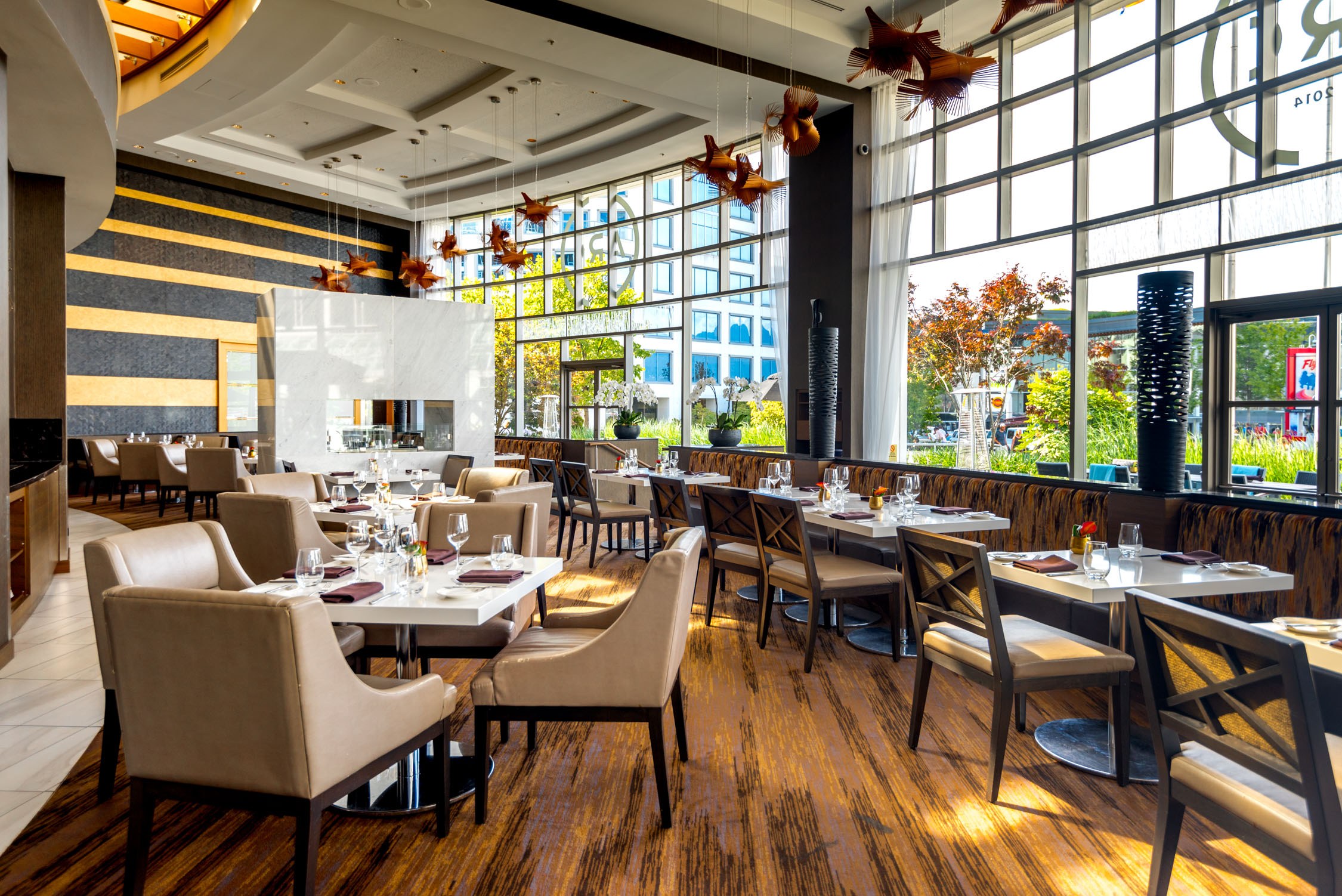 Inside ARC Restaurant at the Fairmont Waterfront