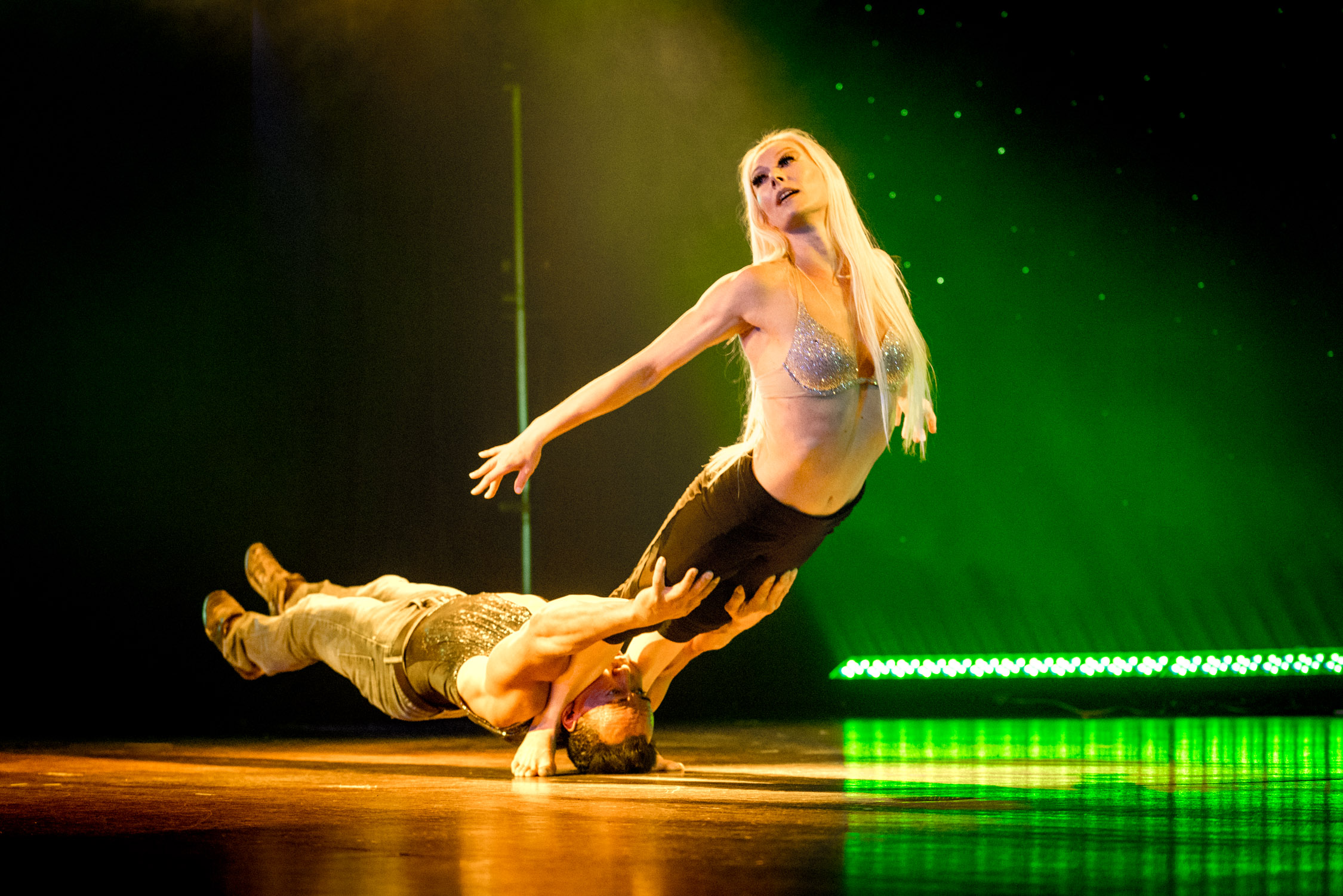 Watching Donovan and Rebecca, a pair of talented acrobats