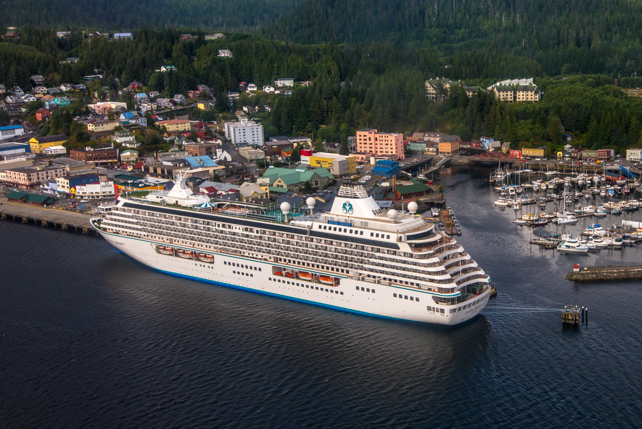 Crystal Serenity of Crystal Cruises  in Alaska