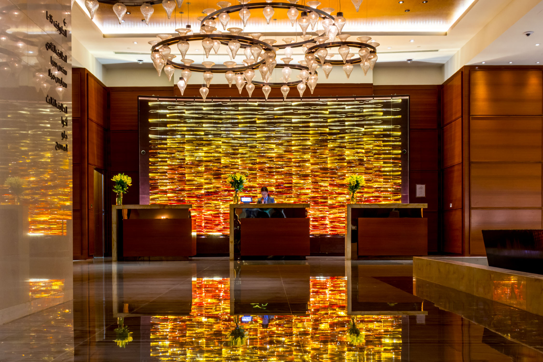 The lobby of the Rosewood Abu Dhabi