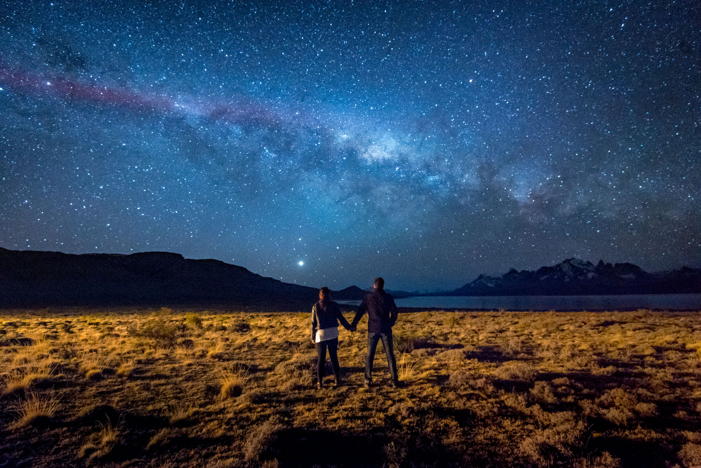 Just us and the stars in Patagonia