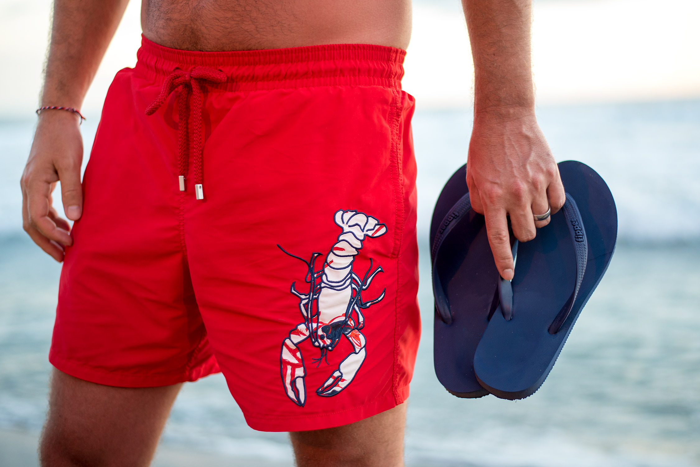 Omar the Lobster Embroidered Swimwear ($360)