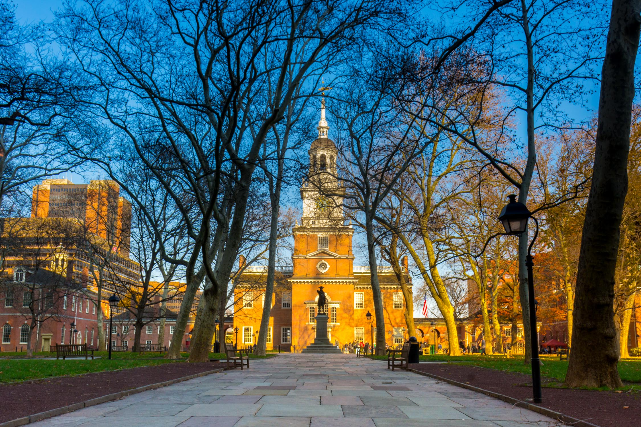 Philadelphia's Independence Hall, where the Declaration of Independence was signed in 1776