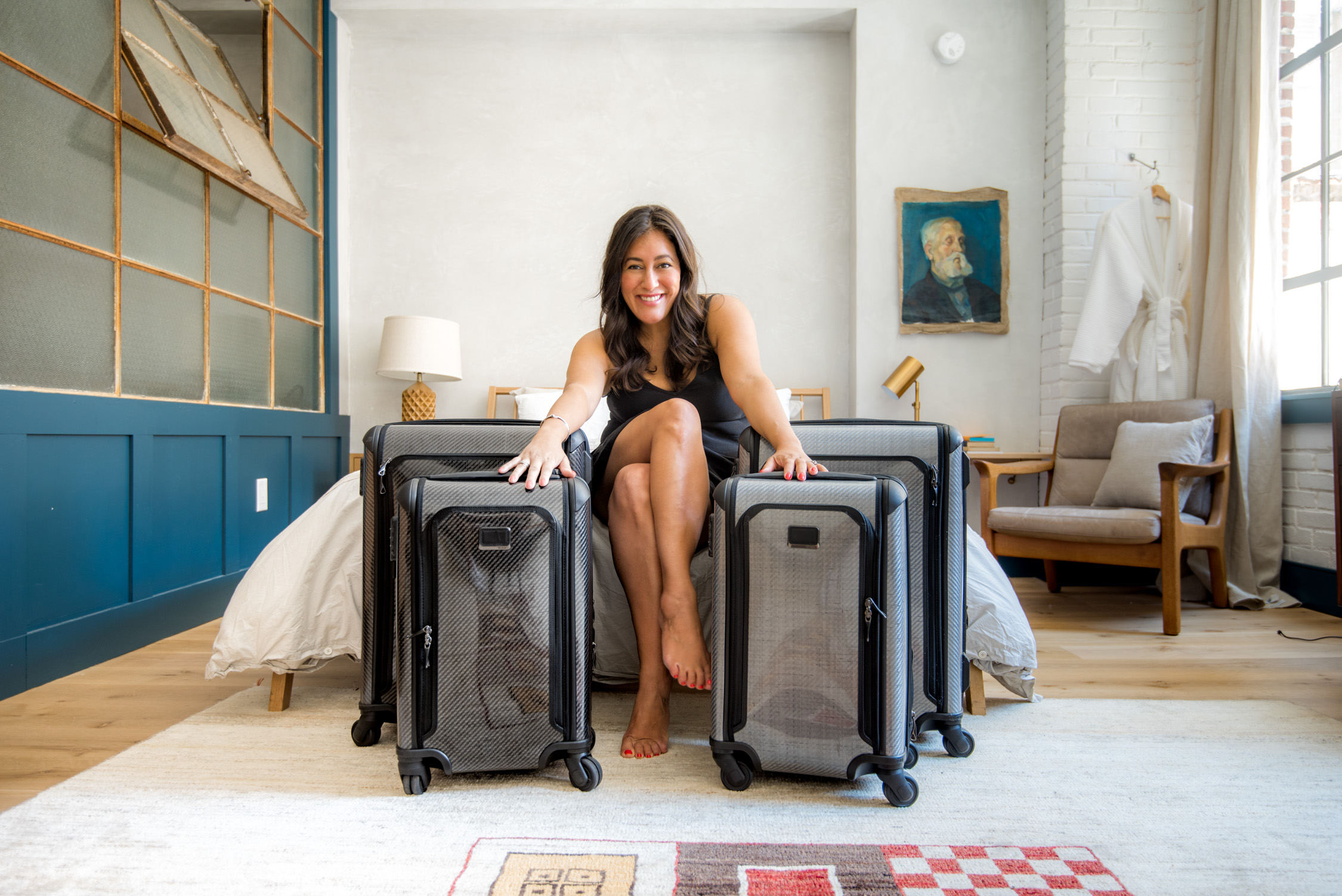 We love the style and durability of our Tumi luggage