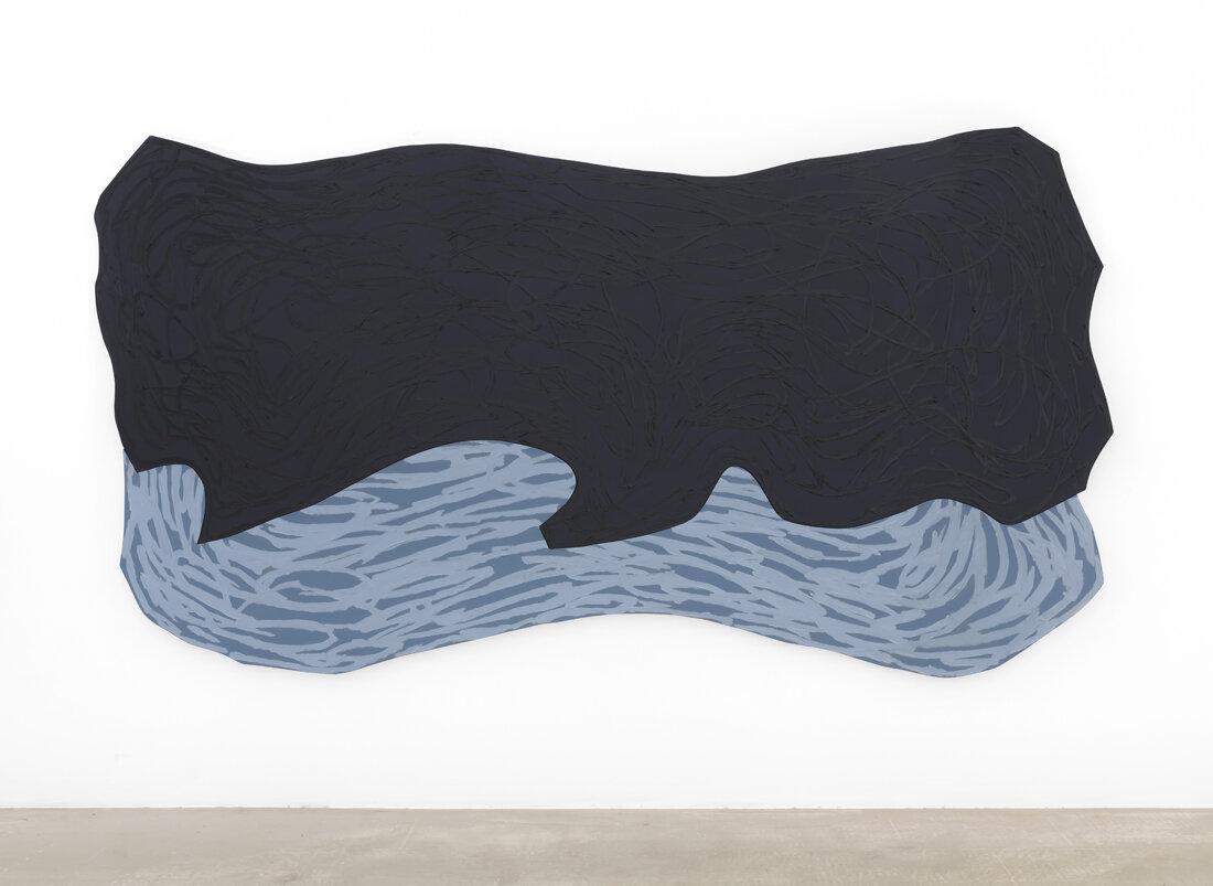 Ved havet IV, stor   177 x 328 cm 2019, olje/akryl på finér  Foto: Øystein Thorvaldsen