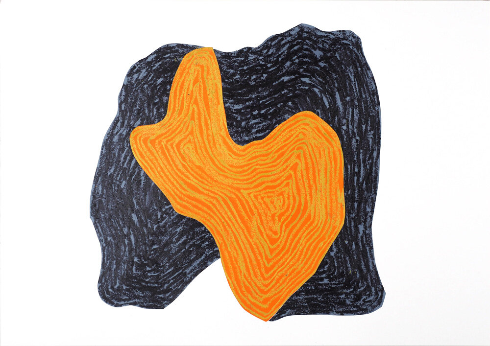 Grotten   Oljepastell 43 x 59 cm 2018