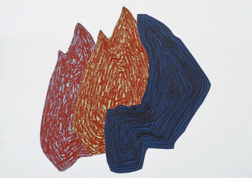 Fra naturen, Skog XIV   Oljepastell 43 x 59 cm 2018