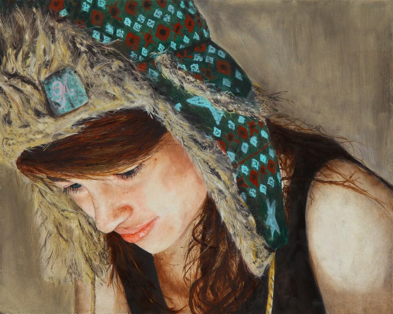 Liv, 2012.  Oil on canvas board.