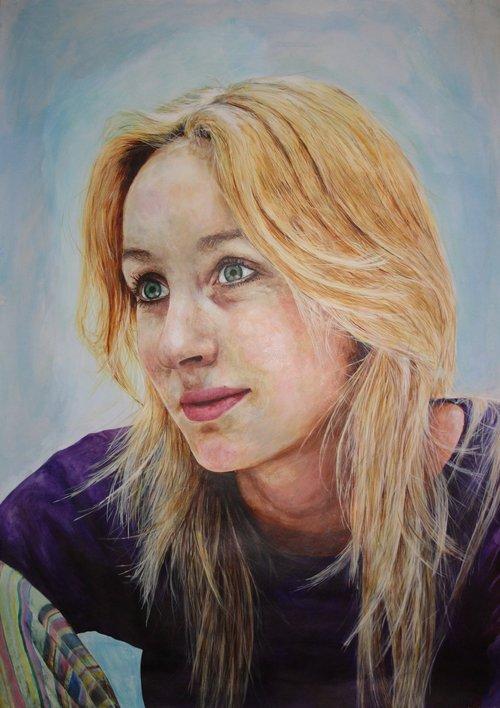 Jen, 2012  Acrylic on paper
