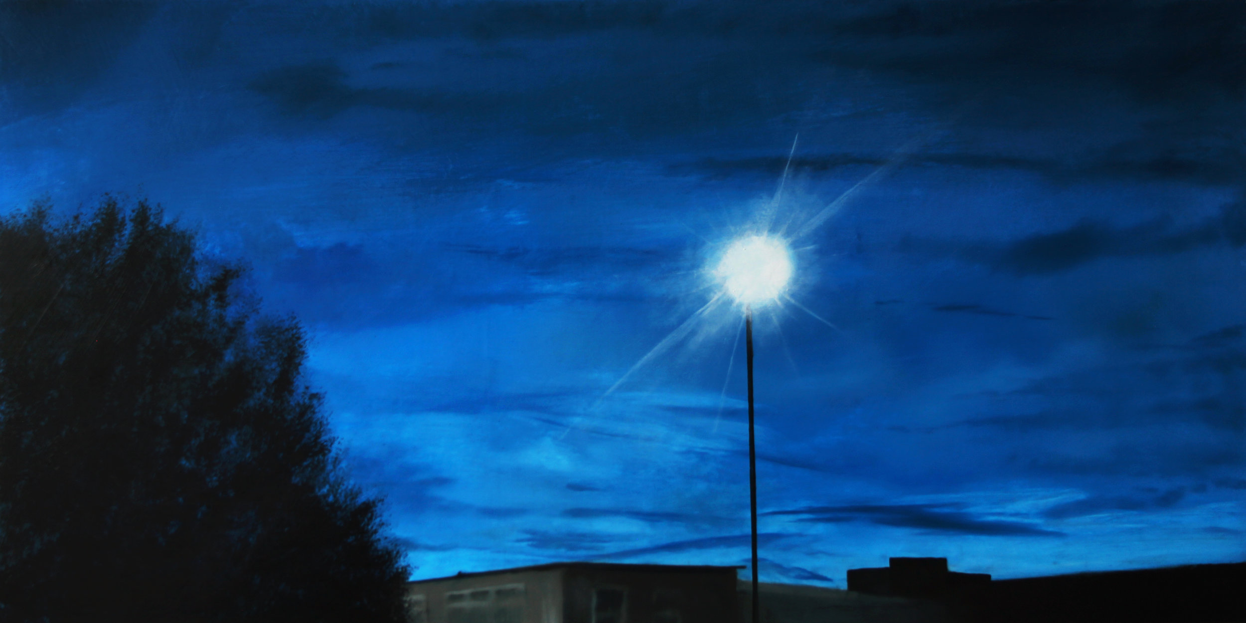 heaton sky  oil on panel  40 x 80 cm  2018  private commission