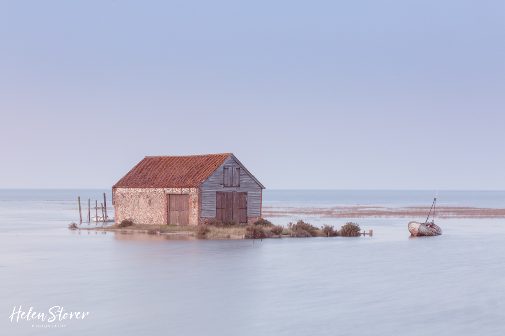 Thornham Quay Side at high tide
