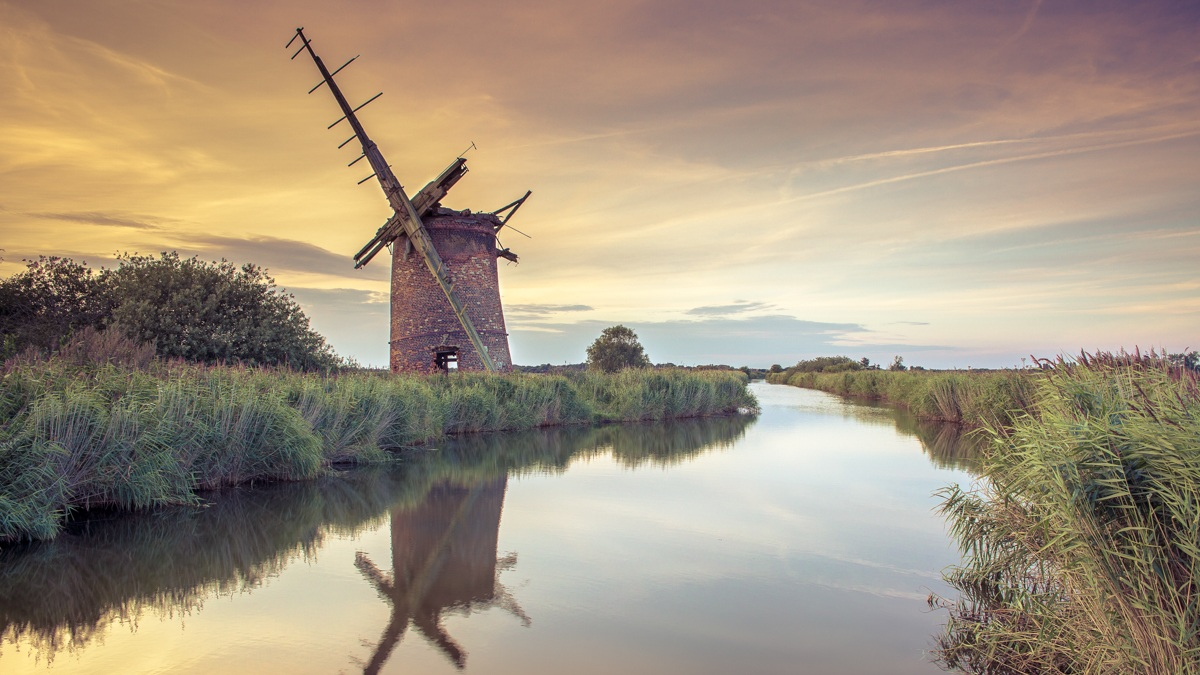 Brograve Mill at Sunset