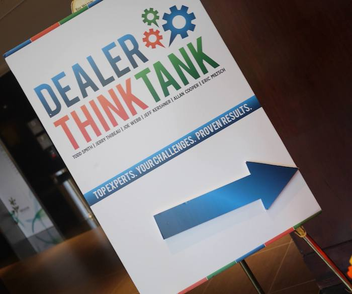 Dealer ThinkTank Entry Sign