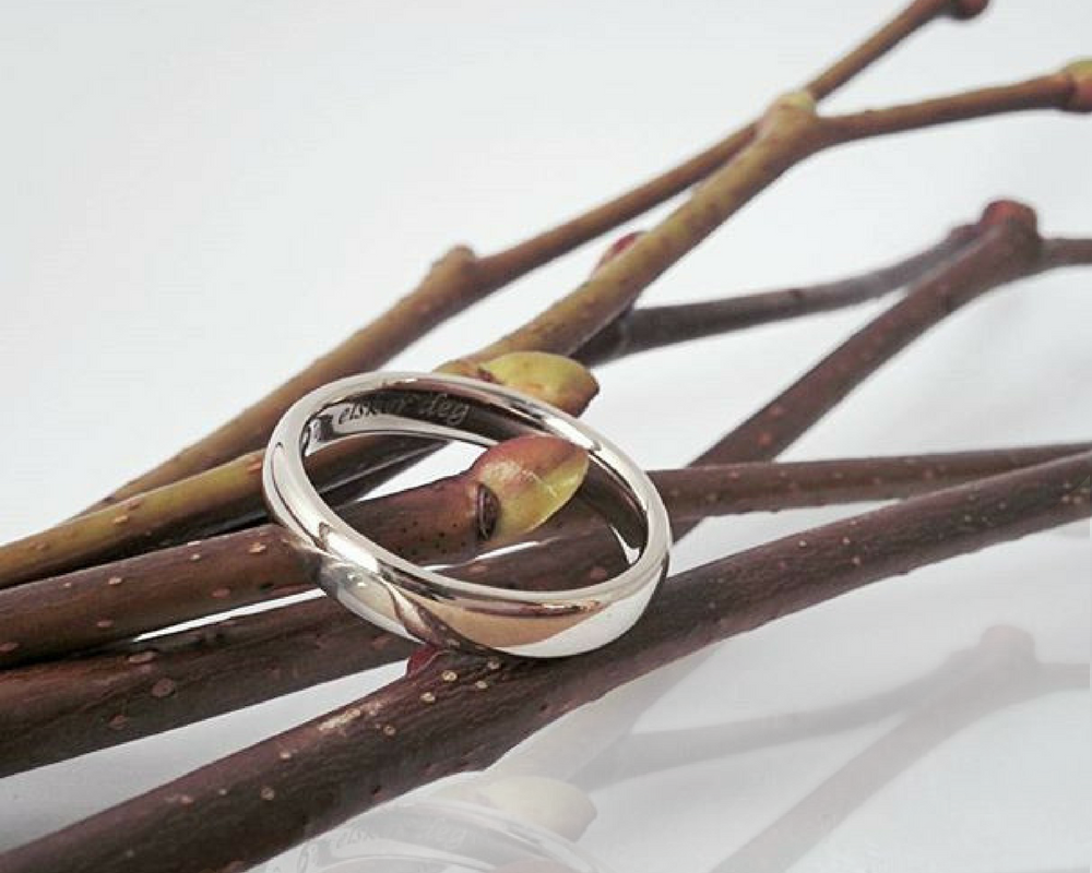 18K Recycled gold wedding band
