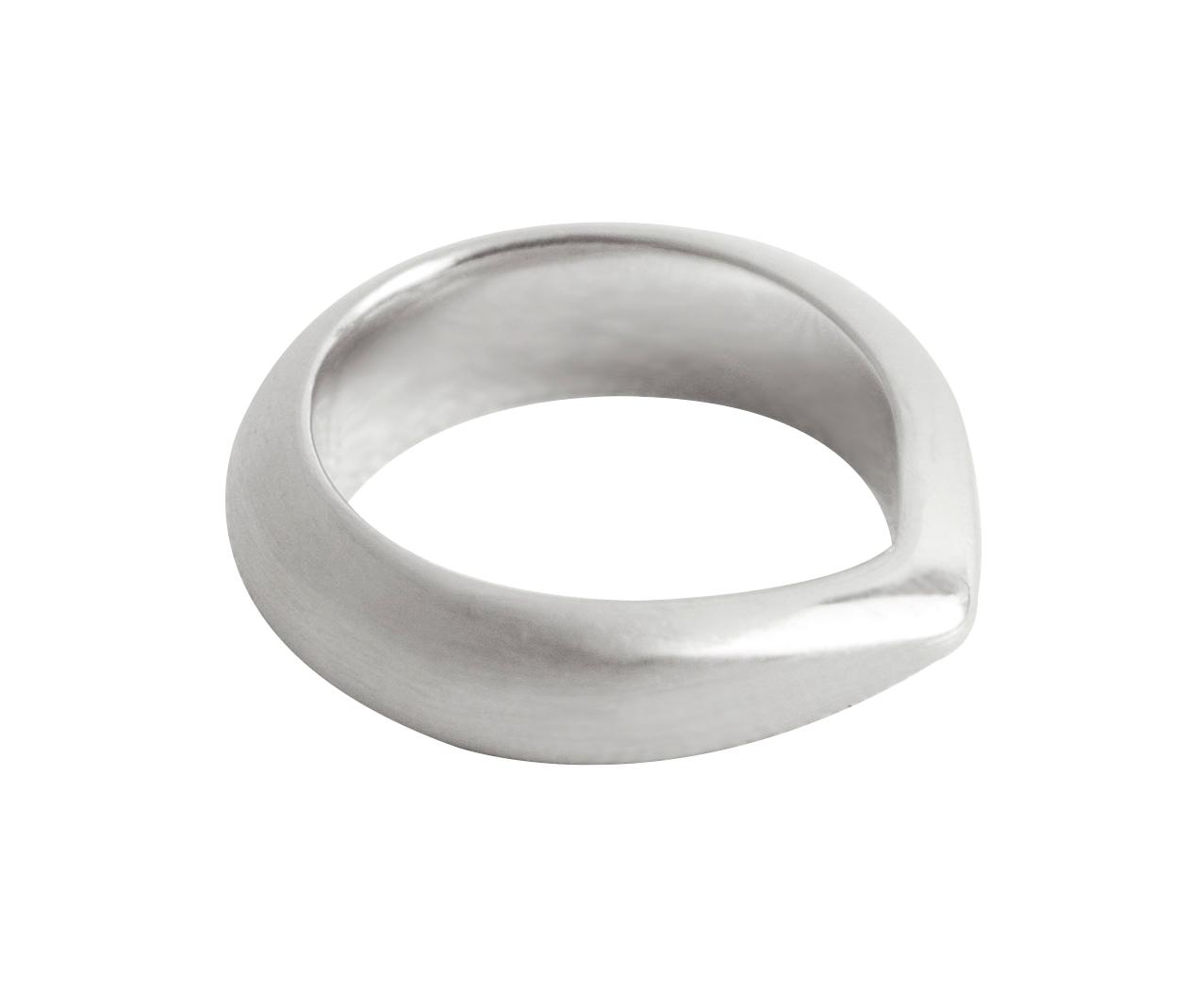 Skarp Topp Ring — 18K Fairtrade White Gold