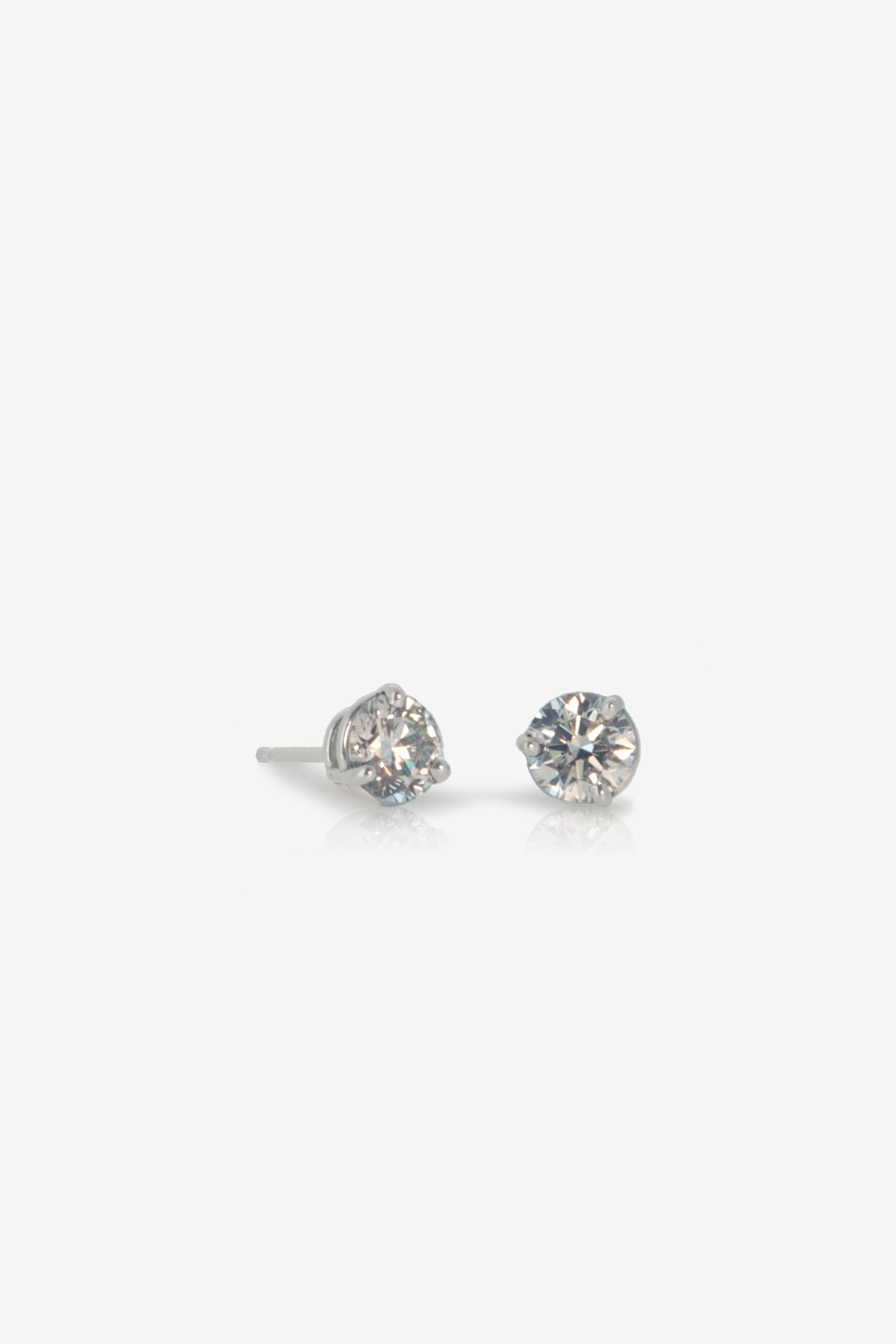 1.10ct Canada Mark GIA diamond earrings