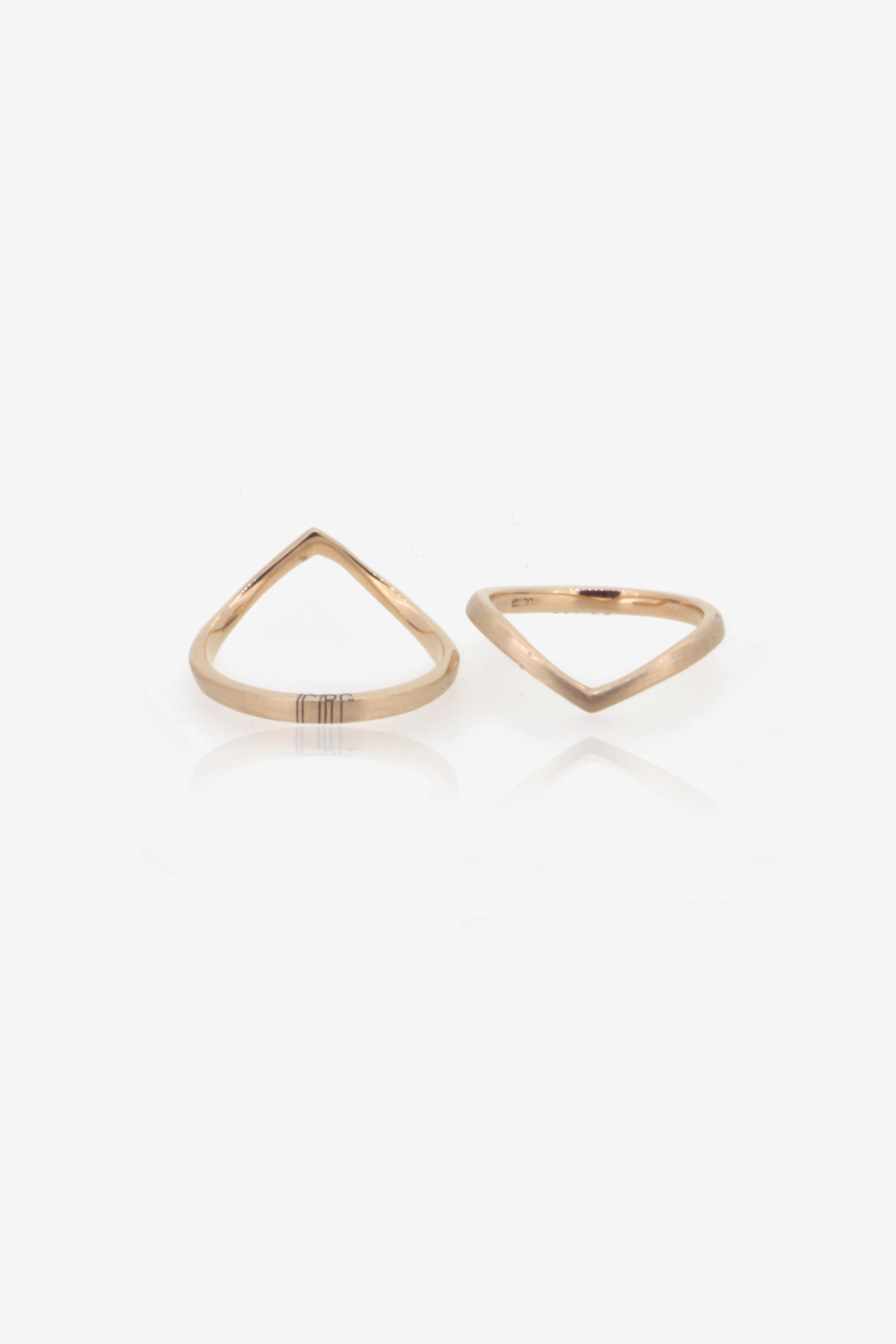 Fairtrade Rose gold pair of engagement rings