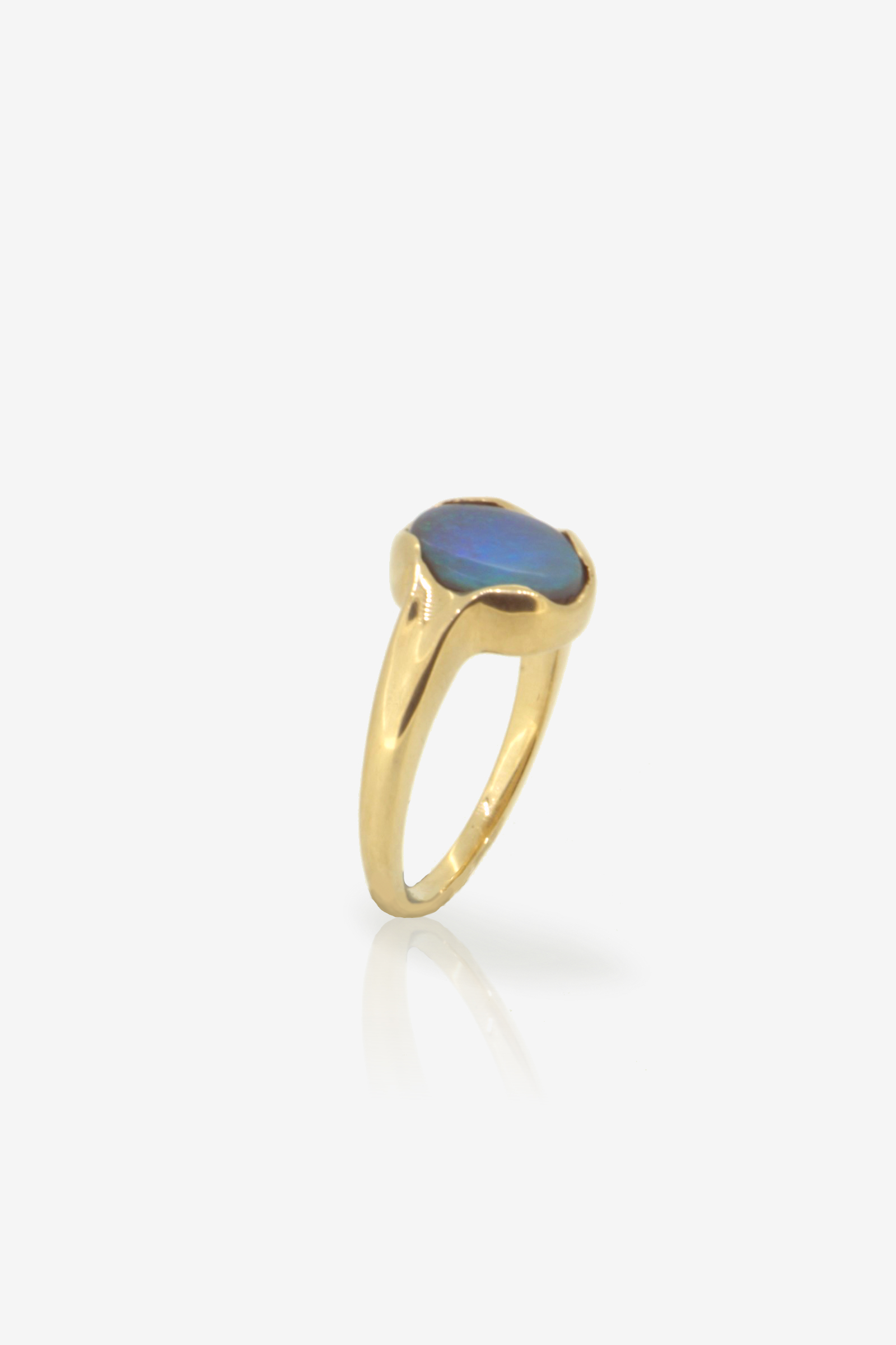 1.10ct Black Opal Fairmined Eco gold ring