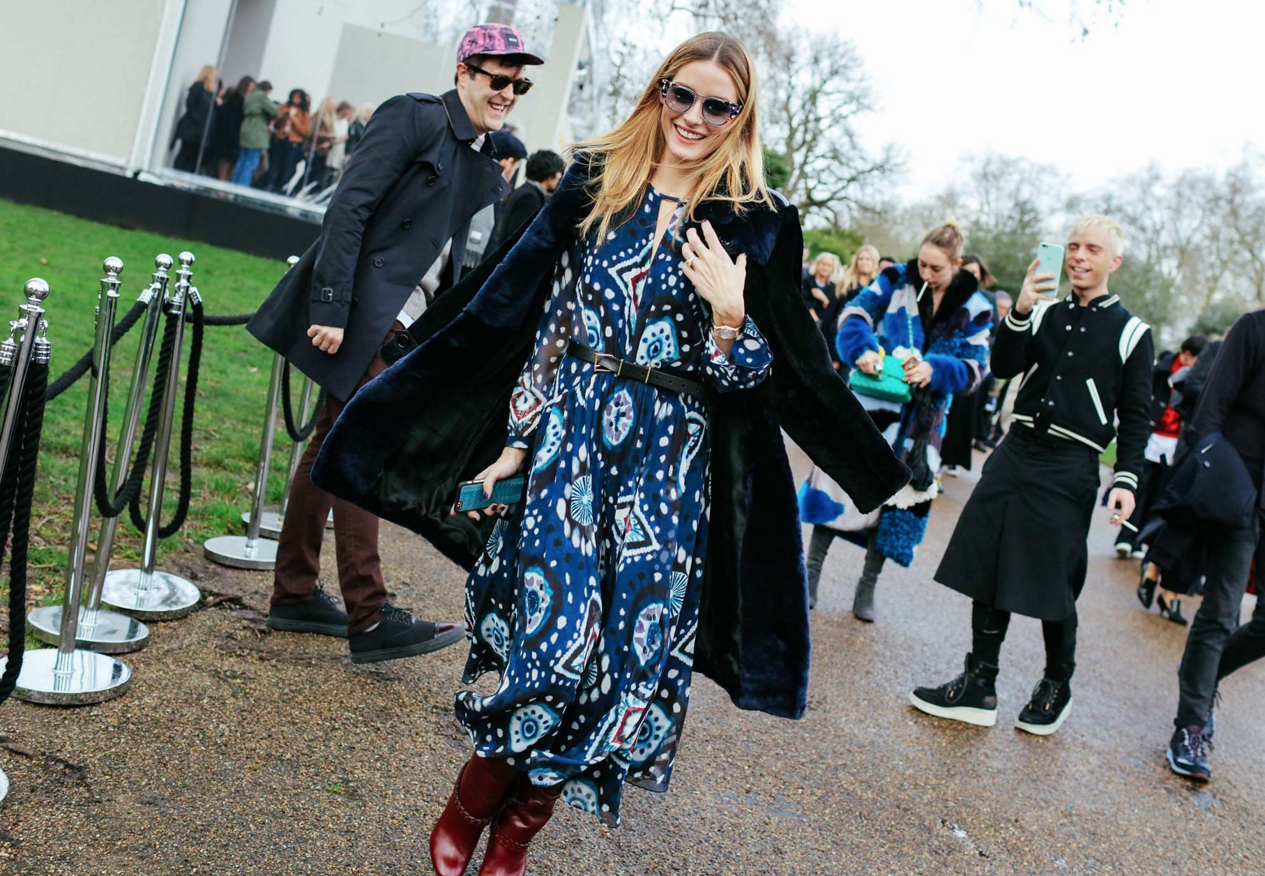 Olivia Palermo in a Burberry dress