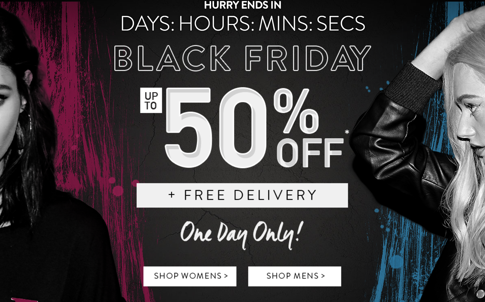 Boohoo is offering not only 50% off EVERYTHING as they are also giving free delivery. Feels like an invitation to steal!