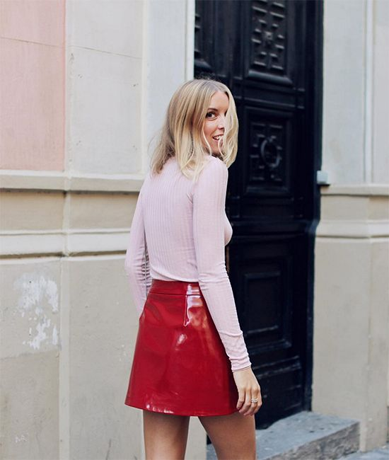 red vinyl skirt heysilvergirl 6.jpg