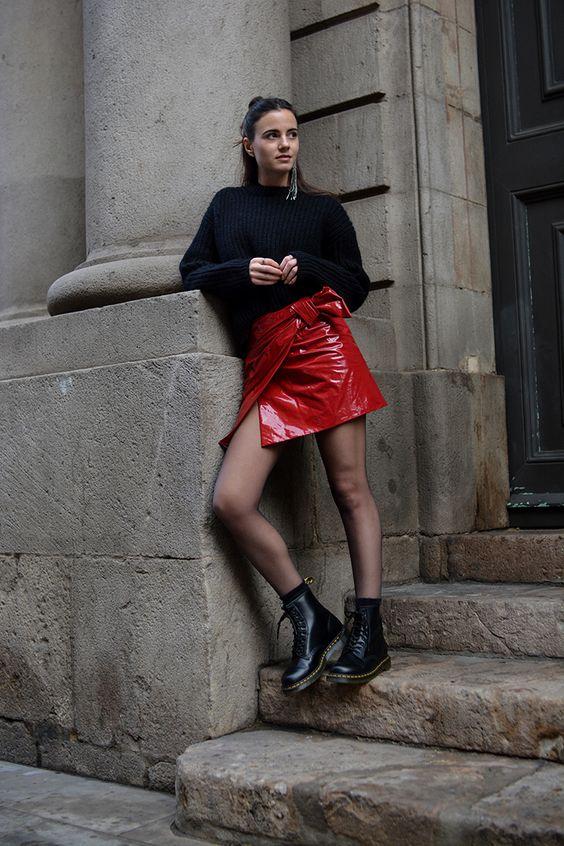 red vinyl skirt heysilvergirl 4.jpg