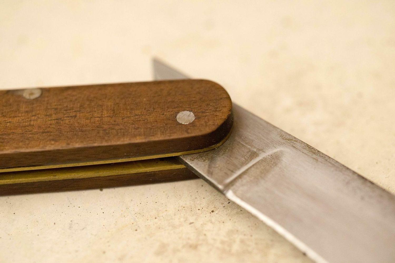 Sailor's Knife   Vintage inspired friction folding sailor's knife   |  American Black Walnut .