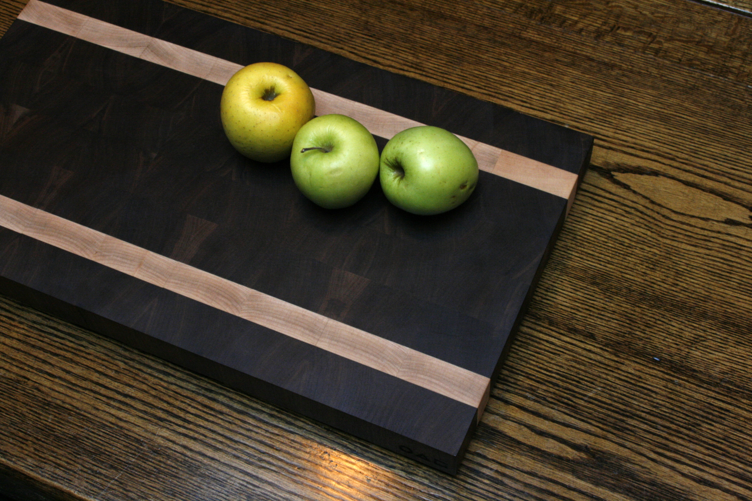 Another Butcher Block  American black walnut & Curly Maple .