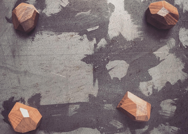 Geometric Magnets | Handmade  American Black Walnut | Rare-earth magnet
