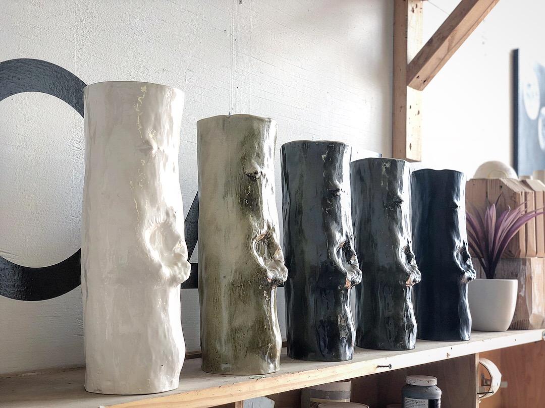 Stump Vessel  Slip casted | Porcelain