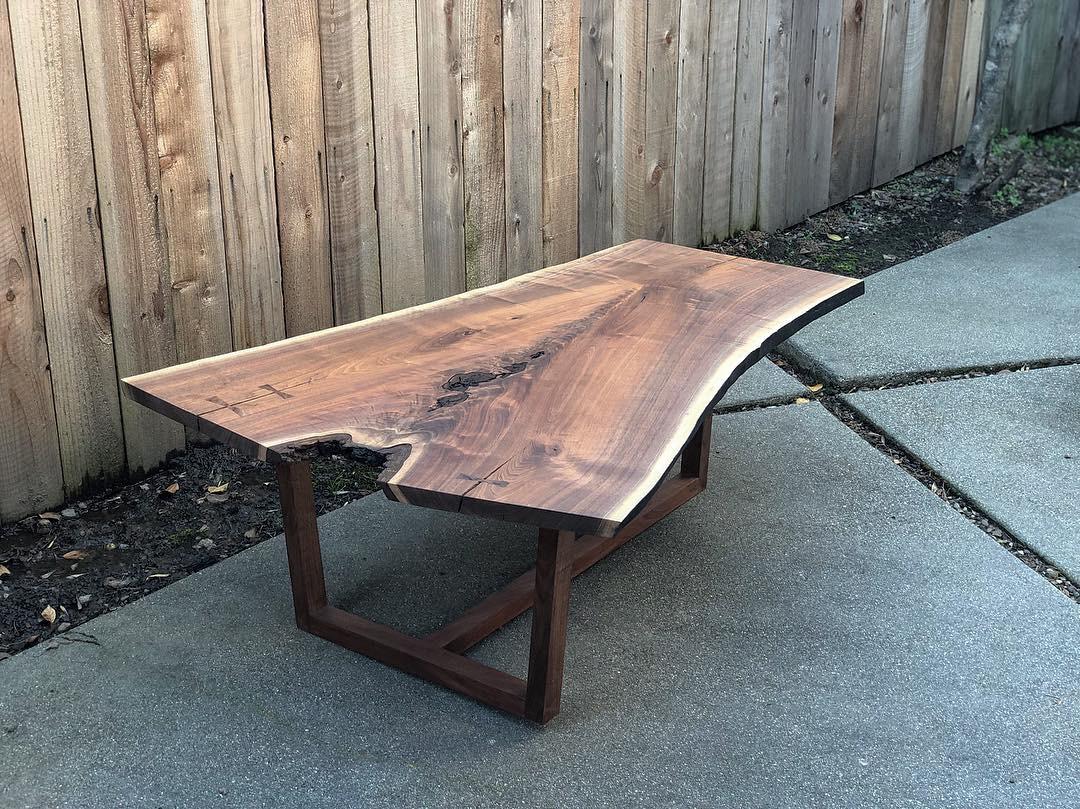 Live Edge Coffee Table | American Black Walnut  Japanese joinery | George Nakashima inspired