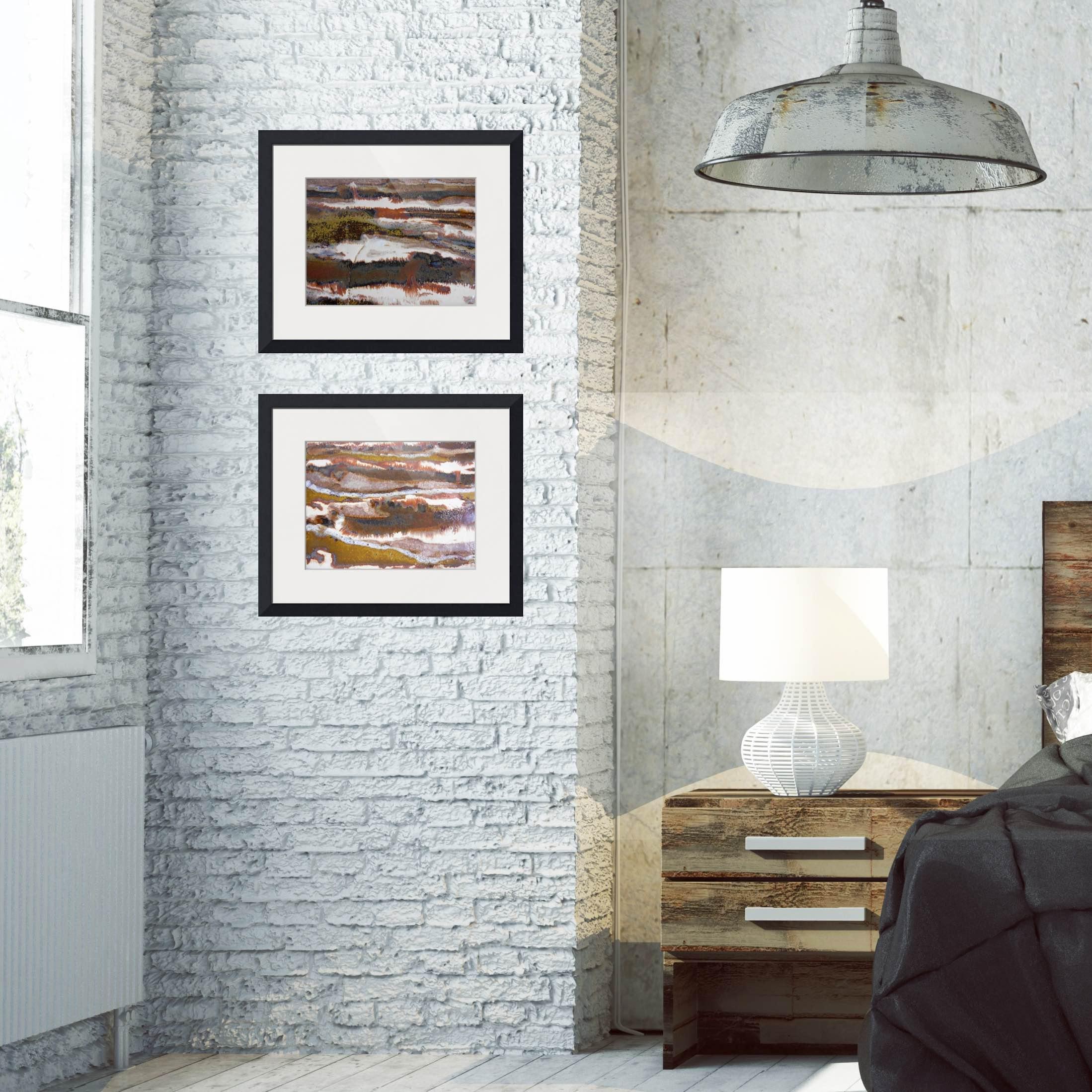 #21 & 22 set of rectangular framed prints