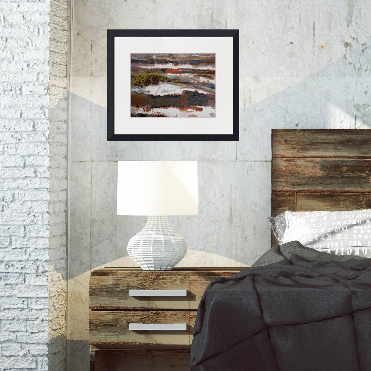 #22 rectangular framed print