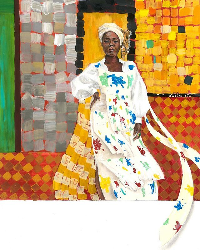 One of my favorite projects to work on to date! My frequent muse @natashanyanin headed back home to Ghana on a quest to explore the DNA of contemporary African fashion for @manrepeller.  Some of the images she shared with me were in front of a vibrant art installation by Serge Attukwei Clottey (@afrogallonism). He intricately pieces together squares cut from plastic gallons and drapes buildings and streets with the cloth-like sculptures. Shot by @colbyblount, the resulting images have echoes of Klimt's decorative paintings I couldn't help but reference.