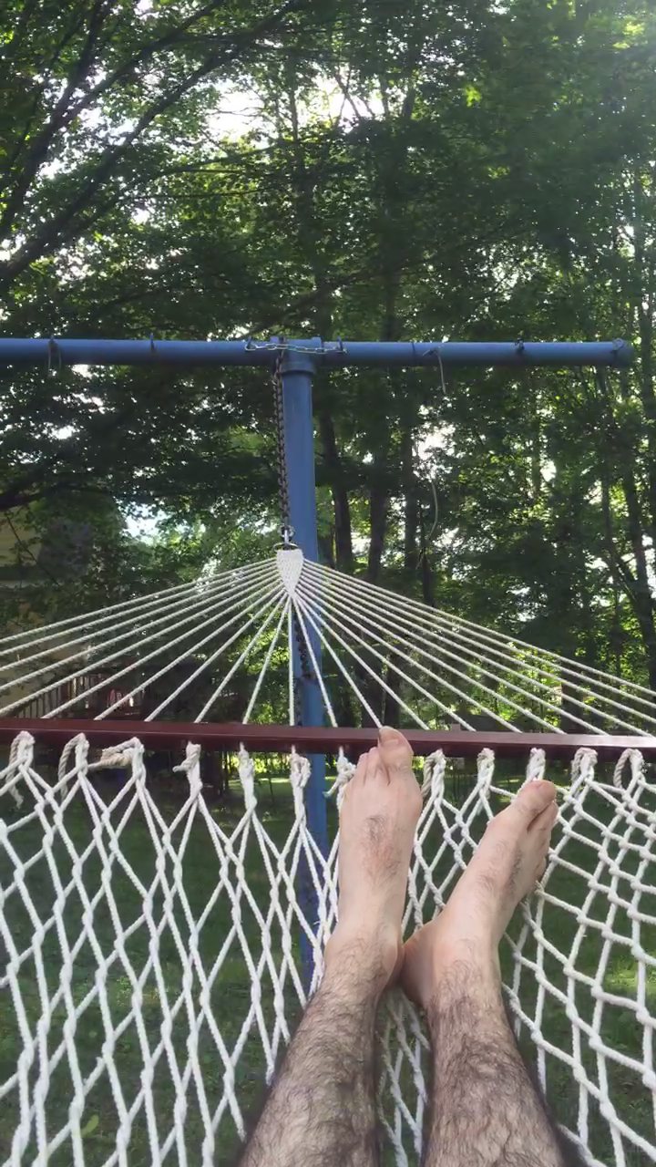 Hammock before the web