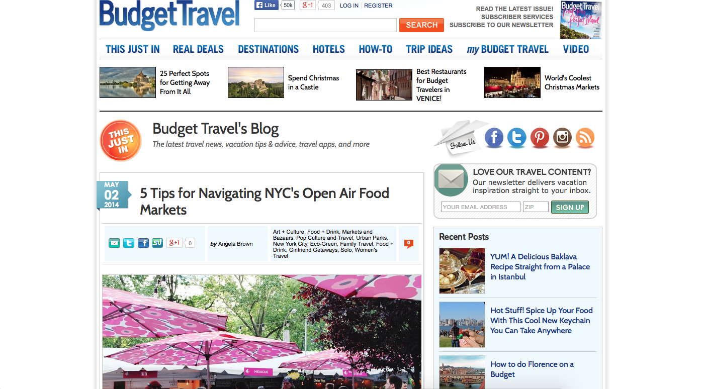 Budget Travel , May 2014