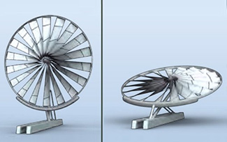 Spoked Wheel Turbine™    Modular Wind Turbines are  Ideal for supplemental power in the field and in either under-developed rural settings or densely populated urban areas. These light weight units are optimized for low-to-moderate wind speeds making them ideal for charging backup power systems, lowering utility costs for buildings or even helping take greenhouse operations off-grid.