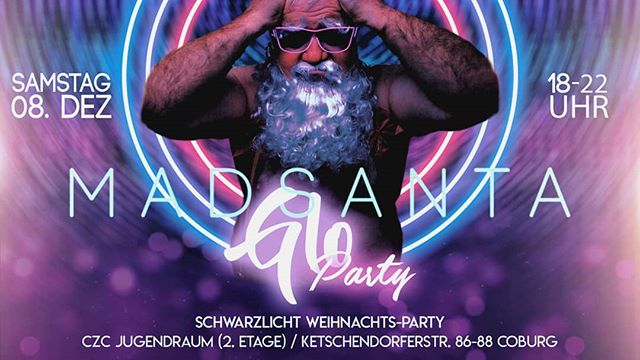 BASECAMP Weihnachtsfeier #letsgo #madsantaparty #blacklight #gloparty