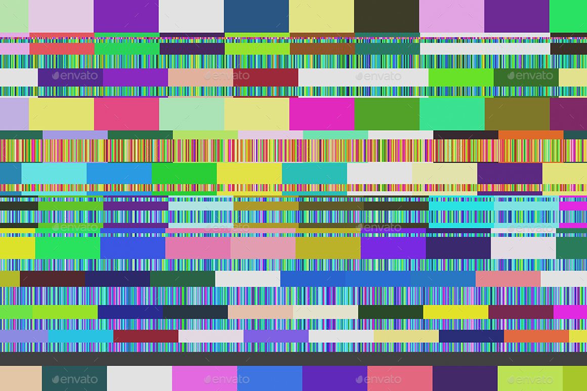Copy of Seamless Television Display Noise Error Glitch Background.