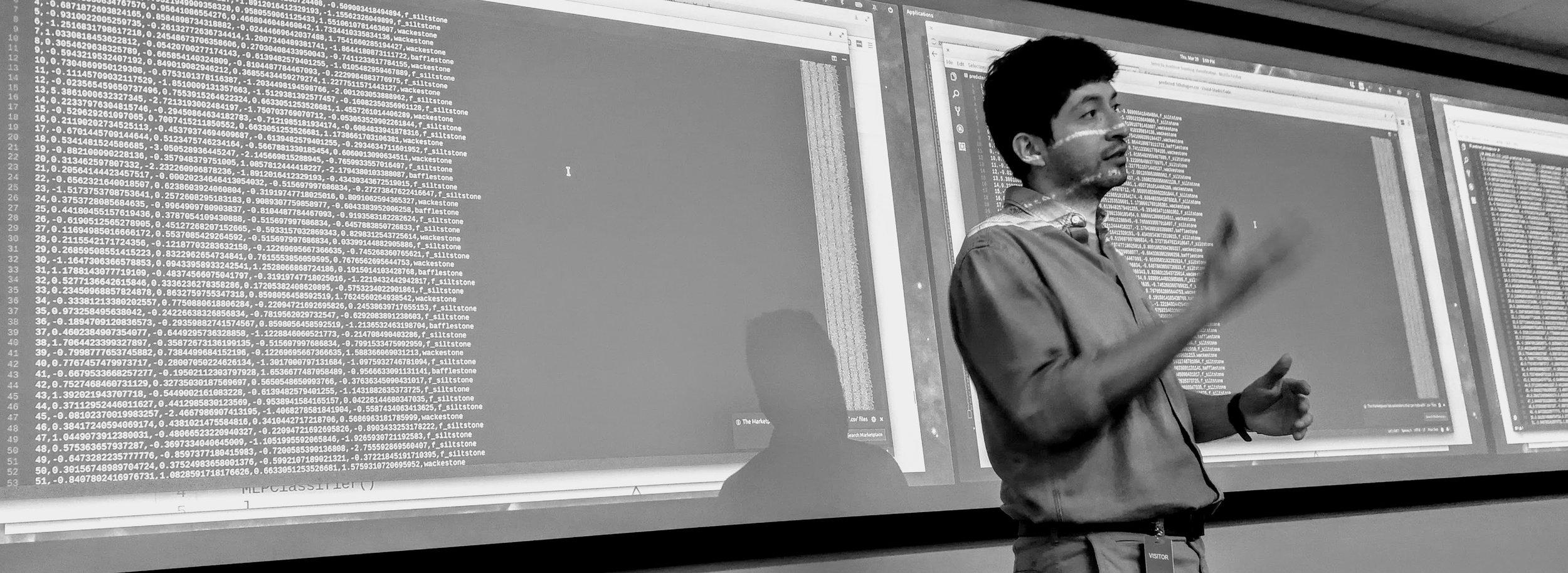 Diego teaching in Houston in 2018.