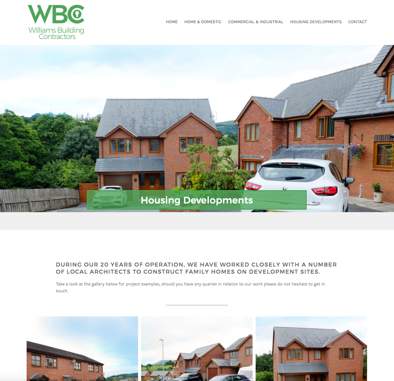 Web design project: Williams Building Contractors