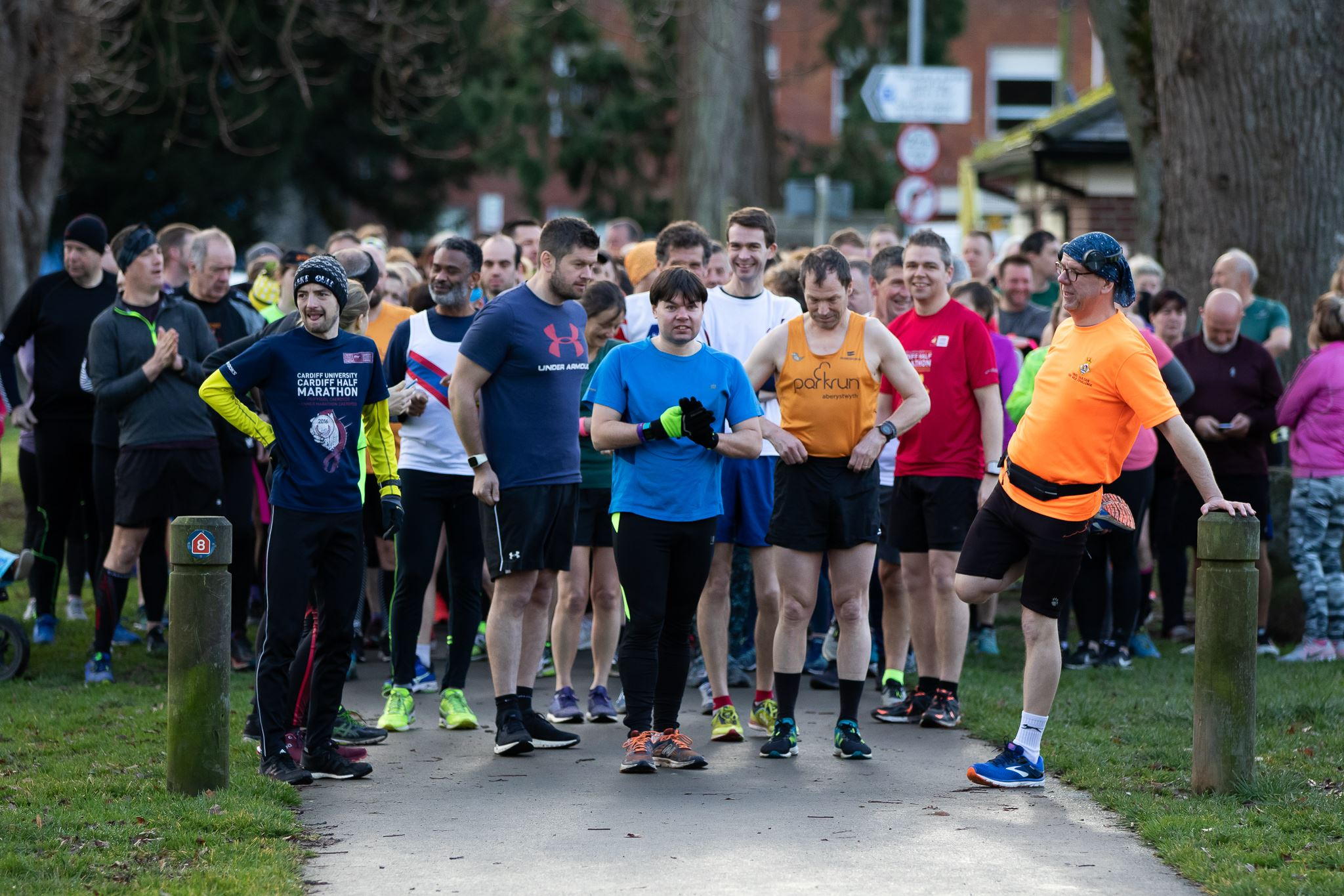 The start line for the Groe parkrun