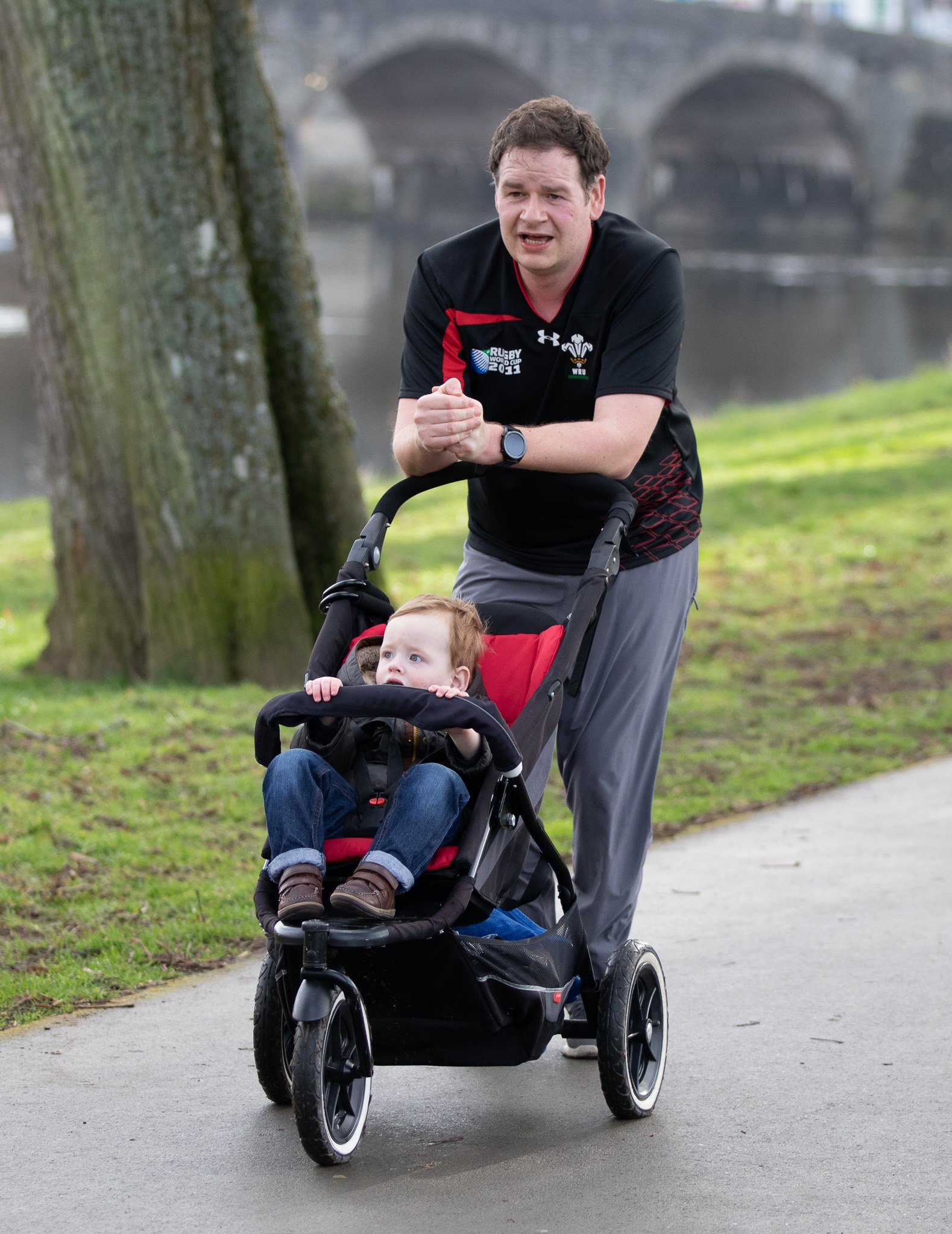 It is fair to say that George found parkrun easier than me.