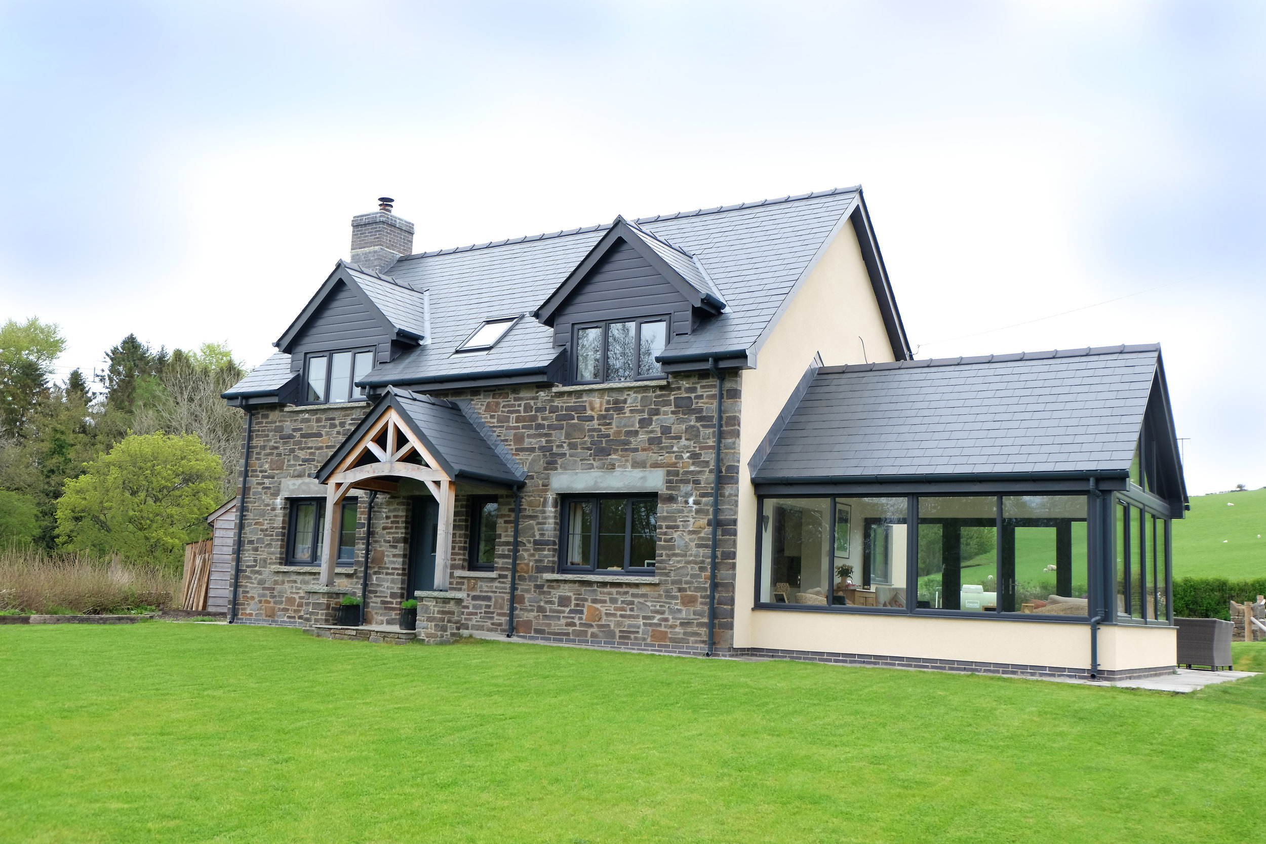 A detached house developed by Andrew M Davies Building Contractors