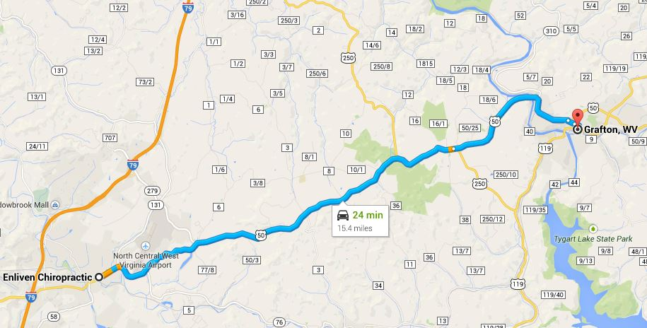 Enliven Chiropractic is a 20 minute drive from Grafton