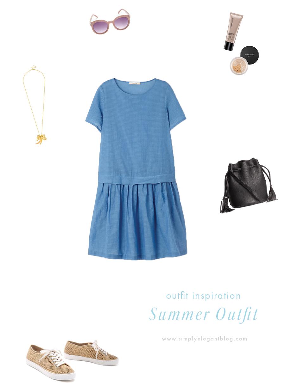 summerdress_strawcorasneakers_h&msmallbag
