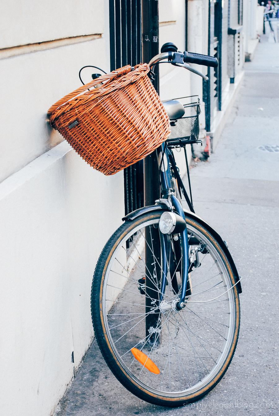 Simply Elegant / Paris Vacation Photographs - Bike Basket